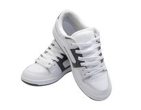 Pair of white sneakers Stock Photos