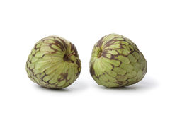 Pair of whole custard apples Stock Photography
