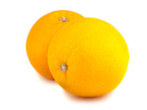 Pair of whole orange fruits Stock Photos