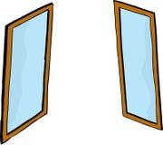 Pair of window or mirror cartoons Stock Image