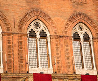 Pair of windows bologna Stock Images