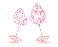A pair of wine glasses Royalty Free Stock Photo