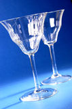 Pair of wine glasses Stock Image