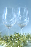 Pair of wine glasses Royalty Free Stock Photography