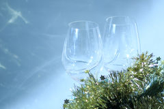 Pair of wine glasses Royalty Free Stock Image