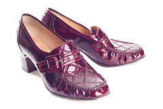 Pair of wine red shoes Stock Image