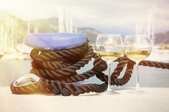 Pair of wineglasses Royalty Free Stock Photos