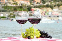 Pair of wineglasses Stock Photography