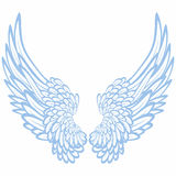 Pair of wings. On white background Stock Photo