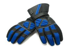 Pair of winter ski gloves stock photo