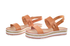 Pair of woman sandals Royalty Free Stock Image