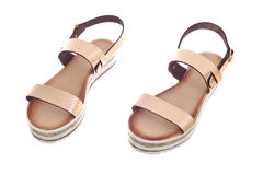 Pair of woman sandals Royalty Free Stock Photography