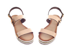 Pair of woman sandals Stock Image
