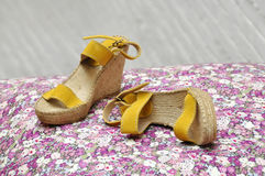 Pair of women espadrilles Royalty Free Stock Photography