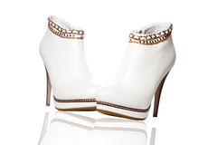 A pair of women's ankle boots Royalty Free Stock Images