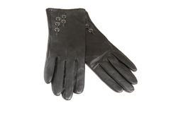 Pair of women's gloves on a white background. Stock Image