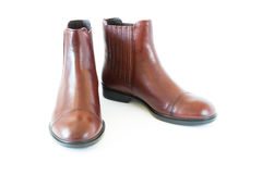Pair women`s leather boots Stock Photography