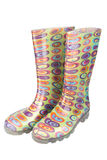 Pair of women's  rubber boot Royalty Free Stock Photo