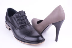 Pair women's shoes back view Royalty Free Stock Image