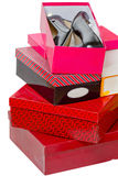 Pair of women's shoes in a box Royalty Free Stock Photo