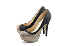 A pair of women's shoes with high heels Royalty Free Stock Photo