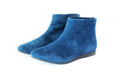 Pair women`s suede boots Royalty Free Stock Image