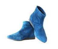 Pair women`s suede boots Stock Photo