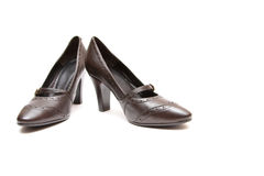 Pair of women shoes. Over white background Royalty Free Stock Photo