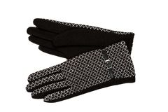 Pair of women`s gloves. Isolate on white Royalty Free Stock Photography