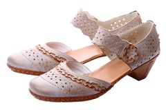 Pair of womens summer shoes Stock Photos