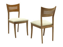 A pair of wooden chairs. Royalty Free Stock Photos