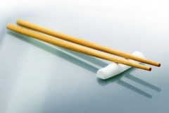Pair of wooden chopsticks Royalty Free Stock Images