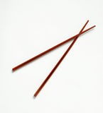 Pair of Wooden Chopsticks Stock Photography