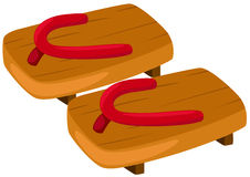 Pair of wooden clog Royalty Free Stock Image