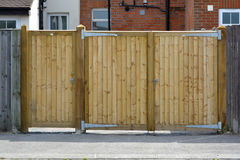 Pair of wooden gates Royalty Free Stock Photos