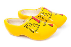 Pair of wooden shoes - klompen or clogs Stock Photography