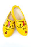 Pair of wooden shoes - klompen or clogs Royalty Free Stock Photos