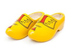 Pair of wooden shoes - klompen or clogs Stock Photo