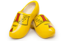 Pair of wooden shoes - klompen or clogs Royalty Free Stock Images