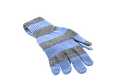 Pair of wool striped gloves Stock Photos