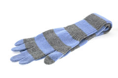 Pair of wool striped gloves Royalty Free Stock Image
