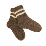 Pair of woolen warm socks Royalty Free Stock Image