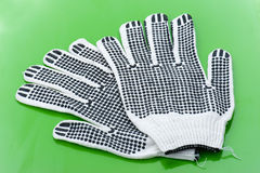 Pair of work gloves Royalty Free Stock Photography
