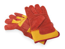 Pair of work gloves on white Royalty Free Stock Images
