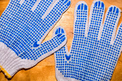 A pair of work gloves Royalty Free Stock Images