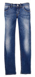 Pair of worn blue denim jeans Royalty Free Stock Images