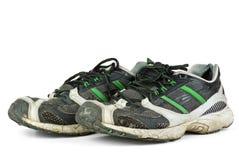 Pair of worn sneakers Royalty Free Stock Image