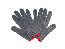 Pair of woven work gloves Royalty Free Stock Photography