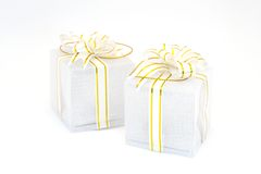 Pair of wrapped presents Royalty Free Stock Photo