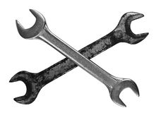 Pair of wrenches Royalty Free Stock Photos